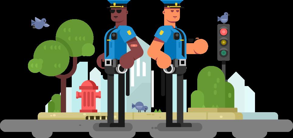 BLUE police scene